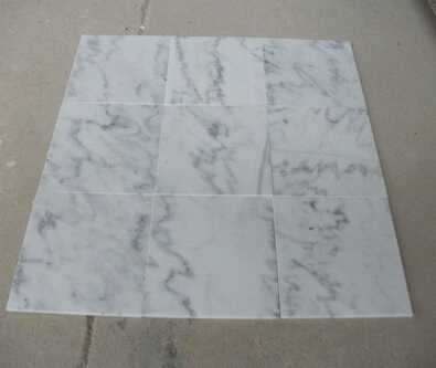 polished white marble stone office floor tiles design