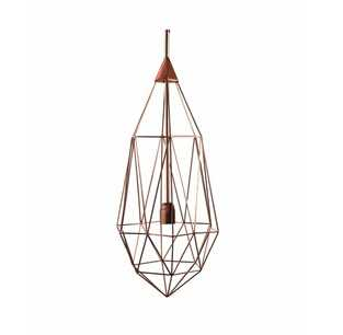 0804-02 Long golden pendant lamp metal cage modern North Europe and Denmark