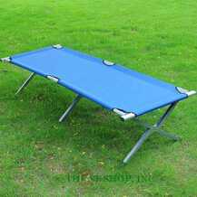 antique iron military folding camping bed