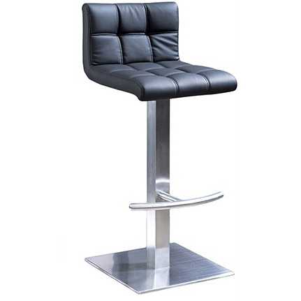 Wholesale modern commercial furniture black pu leather bar stool