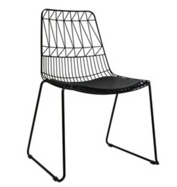 Latest design Hotel Furniture simple design metal dining chair With Low Price