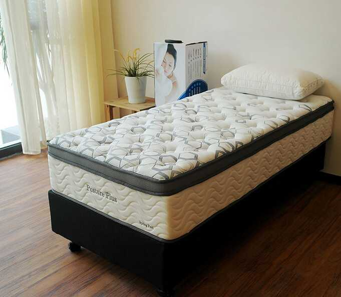 School Mattress Tight Top Roll Up Spring Mattress Posture Plus