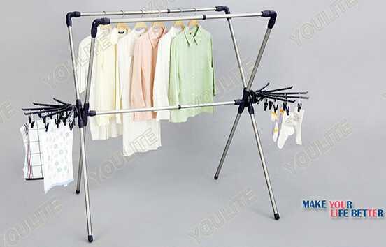 Extendable X-type portable clothes dryer