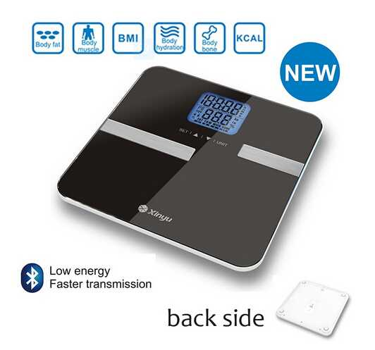 HOT Smart Bluetooth Body Fat Analysis Scale 330lbs Capacity