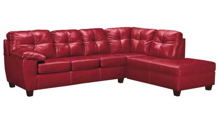 Red color l shape sofa cover design furniture