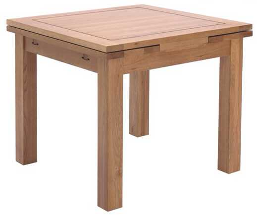Dining table/oak wood table/extention sides table/solid wood end table