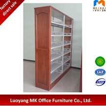 Cheap modern design school furniture metal steel library book shelf