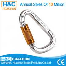 high tensile aluminum carabiner hook for climbing, safety carabiner