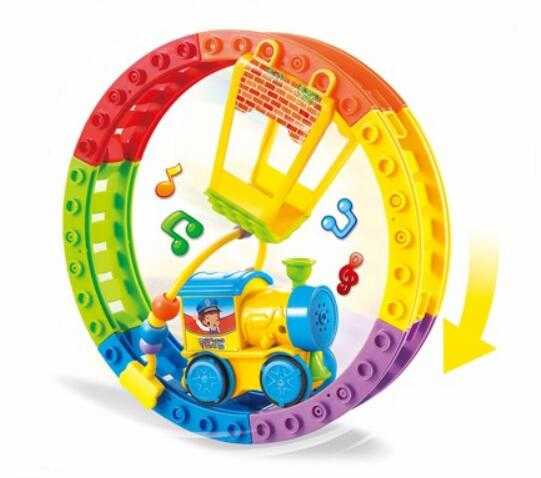 Happy Track Train Toy Slot Toy Playset with Music Car for Kids