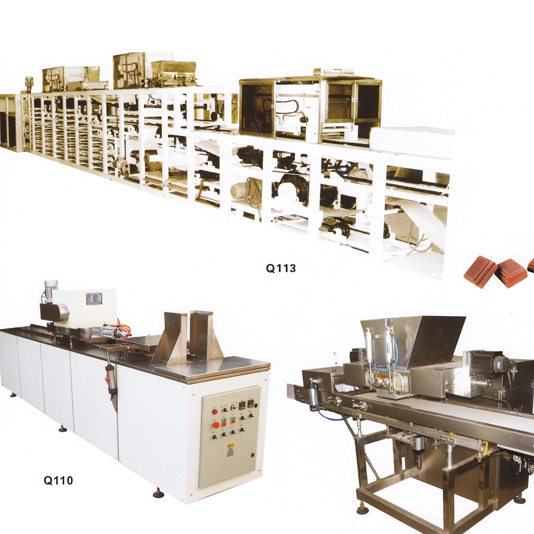 Q11 Automatic chocolate moulding production line
