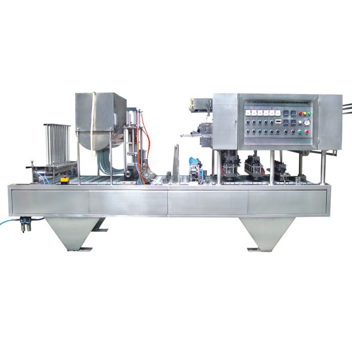CFD-8 automatic cup filling and sealing machine (eight cups)