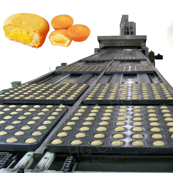 Full automatic custard cake production line