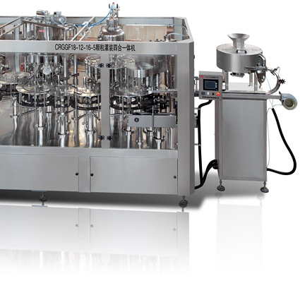 RCGGF juice with grainy 4-in-1 filling machine