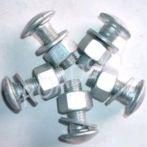 Galvanized Guardrail Bolts Nuts Washers