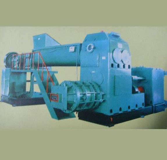 Bipolar vacuum brick making machine
