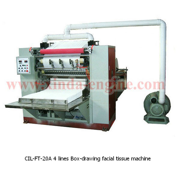 CIL-FT-20A 4 lines Box-drawing facial tissue machine