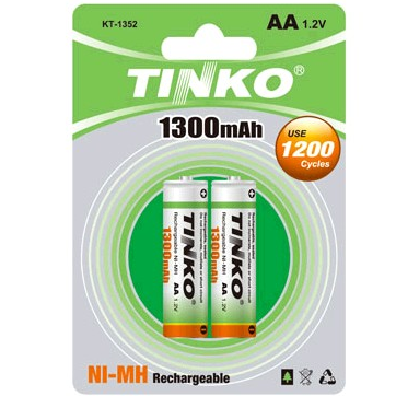 Nickel Metal Hydride Battery Size AA 1300MAH