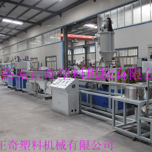 Inlaid cylindrical dripper drip irrigation production line