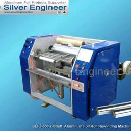 Semi Auto Aluminum Foil Rewinding Machine
