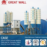 China Well-known Trademark HZS75 Concrete Batching Plant