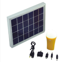 portable solar PV light system for home use