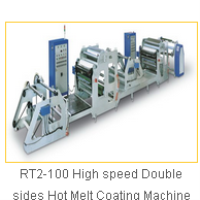 RT2-100 High speed Double sides Hot Melt Coating Machine