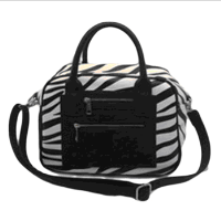 Zebra plain wholesale black pu handbag