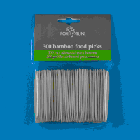 Disposable 300pcs Bamboo Food Picks
