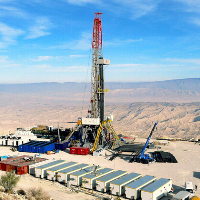 skid mounted land oil rig