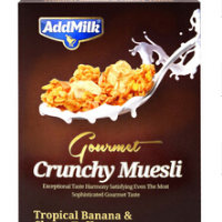 Gourmet Crunchy Muesli with Tropical Banana and Chewy Toffee, 350 gr.