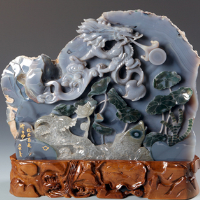 agate gemstone carvings
