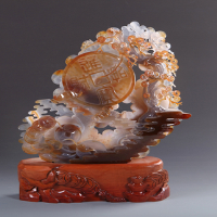 natural agate gemstone carvings