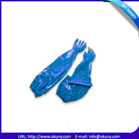 Latest Disposable Medical Nitrile Gloves with long sleeves