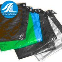 Any color pe tarpaulin with plastic corner and aluminum eyelet