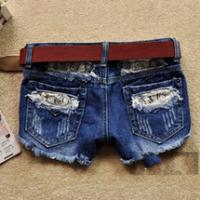 2014 china new fashion hole denim shorts women's personality cool short jeans pants