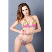 Wholesales Sexy Hot Girls Photos National Wind Printing Swimwear Bikini