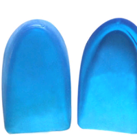 Silicone gel insole massage heel cups/heel cushions