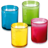 Polycarbonated tea light cups