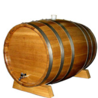 Wooden oak wine barrel used