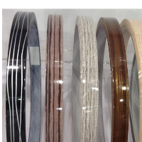high quality plastic 25mm woodgrain pvc edge banding in china for furniture parts usage