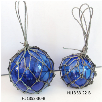 Glass Ball with Rope for Garden Decoration