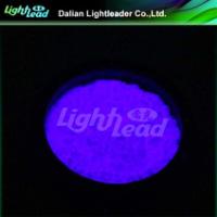 Violet glow color photoluminescent pigment chameleon pigment