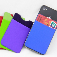 Fashion Design Durable Silicone mobile card holder