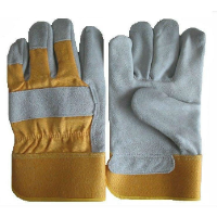 Cowhide split leather gloves/leather work gloves/Safety gloves/Cow split leather working gloves