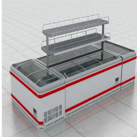 supermarket blast chiller glass lid chilled commercial refrigerator curved freezer island freezer