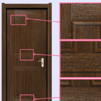 melamine faced door skin/melamine finishing door skin