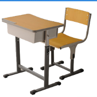 used school or student desk and chair/school furniture