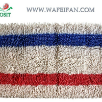 striped chenille logo tufted nylon mat