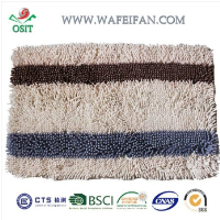 striped chenille pakistan shaggy mat