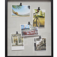 Hot sale China Manufacturer 5 Metal Clips PS self-adhesive photo frame-DIY